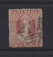 GRENADA...QUEEN VICTORIA...(1837-01).6d.......SG7.....(CAT £12.)..USED. - Grenada (...-1974)