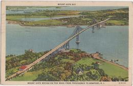 Mount Hope Bay Bridge On The Road From Providence To Newport RI - Etats-Unis