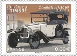France 2019 Neuf** Fête Du Timbre - Voitures De Style - Citroën A 10 HP - France