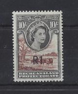 BECHUANALAND..QUEEN ELIZABETH II.(1952-NOW)..R1 ON 10/-...SG167b...(CAT £26.)...MH... - Bechuanaland (...-1966)