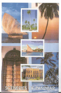 2003 Tanzania Zanzibar Scenery Tourism Doors Sailing Dhows Souvenir Sheet MNH - Tanzania (1964-...)