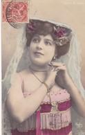 1903 CPA- JULIA. JD.&CIE. COLORISEE. CIRCULEE URUGUAY, MONTEVIDEO- BLEUP - Artistes