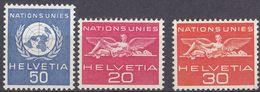 SVIZZERA - 1955/1959 - Lotto Di 3 Valori Nuovi MNH: Yvert Servizio 365, 406 E 407. - Servizio