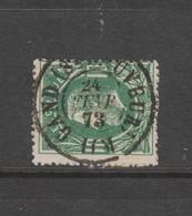 COB 30 Oblitération Centrale Double Cercle GAND (St-Sauveur) Superbe - 1869-1883 Leopold II