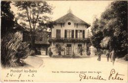 CPA AK Mondorf Les-Bains Vue De L'etablissement En Entrant LUXEMBURG (803853) - Mondorf-les-Bains