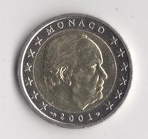 **  2 Euros MONACO 2001  PEU CIRCULE   ** - Monaco