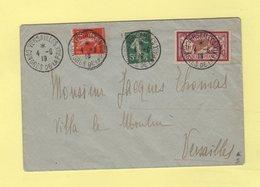 Congres De La Paix - Versailles - 4-6-1919 - Type Semeuse Merson - Marcophilie (Lettres)