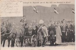 57 - BITCHE - VISITE DU KAISER LE 14 MAI 1903 A LA GARE - BELLE CARTE - Bitche