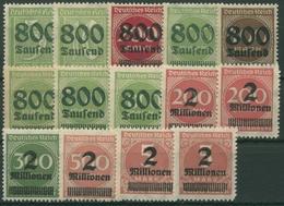 Deutsches Reich 1923 Freimarken Mit Aufdruck 301/12 A/B Postfrisch - Ungebraucht