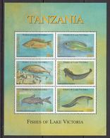 2005 Tanzania Fish Of Lake Victoria Miniature Sheet Of 6 MNH - Tanzania (1964-...)