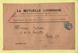 Type Blanc - Papiers D Affaires - Paris - 1905 - 1877-1920: Période Semi Moderne