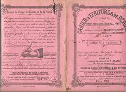 CAHIER D'ECRITURE Et De DEVOIRS N° 3 Par A.ANJOU - ECOLE RUE ST VICTOR à PARIS - 8 Pages - Diplomas Y Calificaciones Escolares