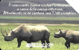 CARTE--MAGNETIQUE-5000L /2,58€-ITALIE-RHINOCEROS-RARE - Jungle