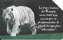 CARTE--MAGNETIQUE-5€-ITALIE-TIGRE Du BENGALE-RARE - Jungle