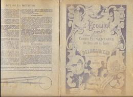 CAHIER De DESSIN - L'ECOLIER RURAL -DESSIN AU BOIS Par DELHOMMEAU 4e Cahier - Couverture Lithographiée Lib GEDALGE Paris - Diplômes & Bulletins Scolaires