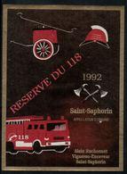 Saint-Saphorin 1992, Réserve Du 118 - Pompiers