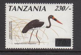 2000 Tanzania 230/- Overprint On 70/- Stork Definitive Birds  MNH - Tanzania (1964-...)