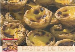 Postal Máximo Doces Tradicionais 2017 Portugal Food Cake Gastronomie Gastronomy Pastel De Nata Essen Maxicard Maximum - Ernährung