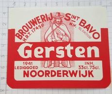 ETIQUETTE GERSTEN  BROUWERIJ  Sint BAVO NOORDERWIJK -2 - Bière