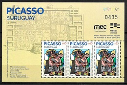 URUGUAY 2019 PABLO PICASSO PAINTING EXPO MINISHEET MNH - Picasso