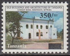 2004 Tanzania 350/- Overprint On German Boma Definitive Architecture  MNH - Tanzania (1964-...)