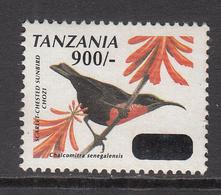 2011 Tanzania 900/- Overprint On Bird Definitives  Oiseaux  Complete Set Of 2 MNH - Tansania (1964-...)