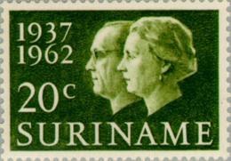 Suriname 1962 25 Jarig Huwelijk Juliana En Beatrix - NVPH 378 MNH** Postfris - Suriname ... - 1975