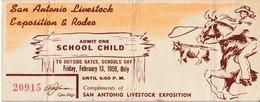 San Antonio Livestock Exposition & Rodeo, 1959 - Ticket - Biglietti Di Trasporto