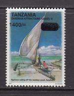 2018 Tanzania 1400/- Overprint On Zanzibar Sailing Dhow MNH - Tanzania (1964-...)
