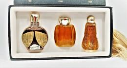 Miniatures De Parfum  COFFRET De  3 MINIATURES COLLECTION LES ANTIQUES  Réédition  Originale CORDAY ET LELONG - Modern Miniatures (from 1961)
