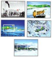New Zealand Zeeland Sealand 2007 R Sheet 5x Scott Base Antarctic Antarctica Ross Dependency Mnh - New Year