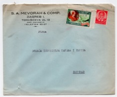 1930s  YUGOSLAVIA, CROATIA, ZAGREB TO BELGRADE, S.A. MEVORAH & CO, COMPANY COVER - 1931-1941 Kingdom Of Yugoslavia