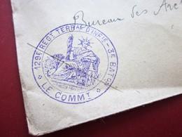WW1-Lettre S.M-129é Régiment Infanterie Territoriale 3éB Cachet Militaire & C.à Date T&P SP44 Guerre 1914-18 Marcophilie - Postmark Collection (Covers)