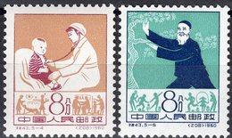 Medizin-Berufe 1960 China 561+562 ** 20€ Entwicklung Des Gesundheit-Wesen Im Volk Medica 2 Stamps Of Chine CINA - Nuovi