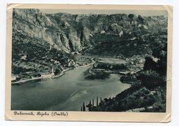 1939 YUGOSLAVIA,  CROATIA, DUBROVNIK TO LONDON, GREAT BRITAIN, RIVER OMBLA, USED ILLUSTRATED POSTCARD - Yugoslavia