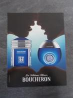 Publicité Papier Parfum - Perfume Ad : BOUCHERON Les Editions Bleues France 2006 - Advertisings (gazettes)