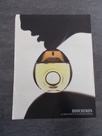 Publicité Papier Parfum - Perfume Ad : BOUCHERON  France 2003 - Advertisings (gazettes)