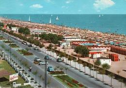 RICCIONE-VIALE AL MARE E SPIAGGIA-VIAGGIATA -  F.G - Rimini