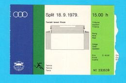 MEDITERRANEAN GAMES 1979. - TENNIS Official Ticket * Jeux Mediterraneens Giochi Del Mediterraneo Juegos Del Mediterráneo - Tennis