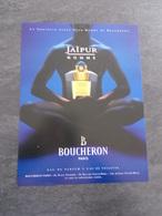 Publicité Papier Parfum - Perfume Ad : BOUCHERON Jaïpur Homme France 1997 - Advertisings (gazettes)