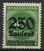 GERMANIA REICH REP.DI WEIMAR 1923 FRANCOBOLLI SOPRASTAMPATI CON NUOVO VALORE UNIF. 269 MNH XF - Nuevos