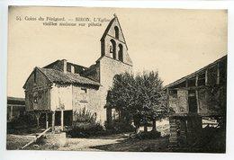 Biron L'église Vieille Maison Sur Pilotis - France