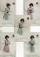 Femme Photo -718 Langage Des Timbres X 5 - Frauen
