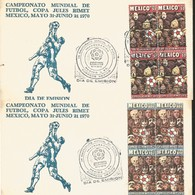 J) 1970 MEXICO, SOCCER WORLD CHAMPIONSHIP, BLOCK OF 4, SET OF 2 FDC - Mexico