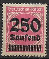 GERMANIA REICH REP.DI WEIMAR 1923 FRANCOBOLLI SOPRASTAMPATI CON NUOVO VALORE UNIF. 272  MNH XF - Nuevos