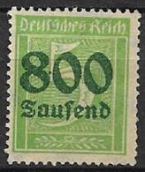 GERMANIA REICH REP.DI WEIMAR 1923 FRANCOBOLLI SOPRASTAMPATI CON NUOVO VALORE UNIF. 273 MLH VF - Nuevos