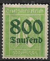 GERMANIA REICH REP.DI WEIMAR 1923 FRANCOBOLLI SOPRASTAMPATI CON NUOVO VALORE UNIF. 274 MLH VF - Nuevos