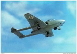 Aviation - Airplane - Avion - Plane - De Havilland DH115 ( Vampiré ) - Portugal ( 2 Scans ) - Aviation