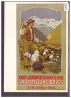 CARTE MODERNE - BRIG - KANT. LANDWIRTSCHAFTLICHE AUSSTELLUNG 1900 - REPRO D'AFFICHE - TB - VS Valais