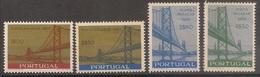 Portugal 1966 - Série Completa Inauguração Ponte Salazar 979 To 982 - Set Complete Salazar Bridge - Mint MNH** Neuf - 1910-... Republic
